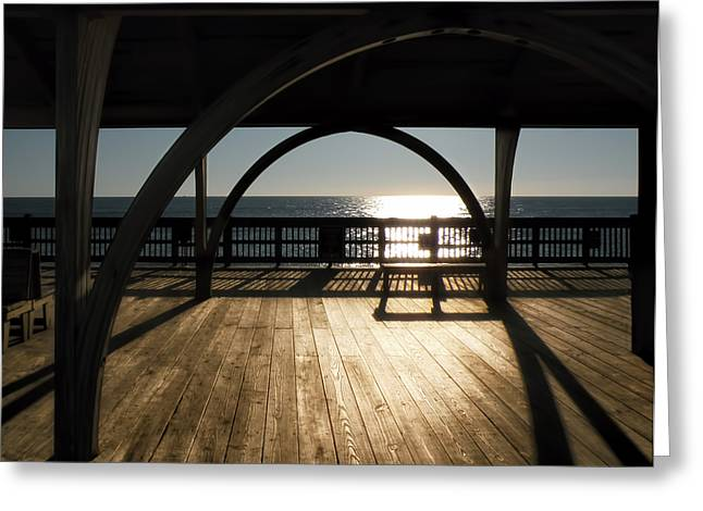 Sunrise On Beach Greeting Cards - Sunrise on Tybee Island Greeting Card by Steven  Michael