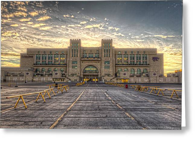 Wildcats Greeting Cards - Sunrise on Wildcat Nation Greeting Card by Corey Cassaw