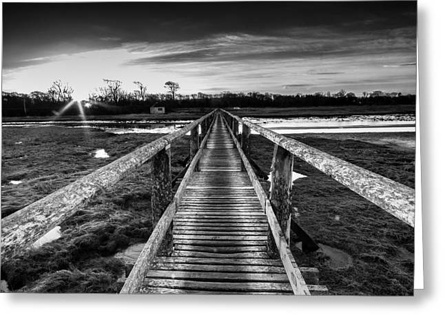 Brdige Greeting Cards - Sunrise over Aberlady Bridge.psd Greeting Card by Keith Thorburn LRPS