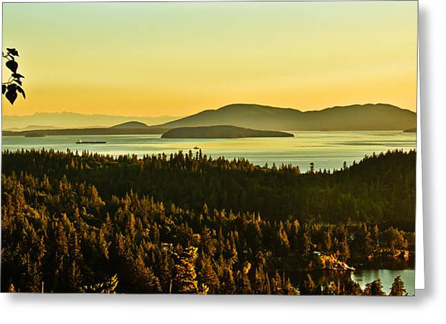 Recently Sold -  - Haybale Greeting Cards - Sunrise Over Bellingham Bay Greeting Card by Robert Bales