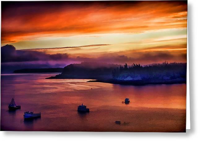 Campobello Island Greeting Cards - Sunrise Over Campobello Greeting Card by James Black