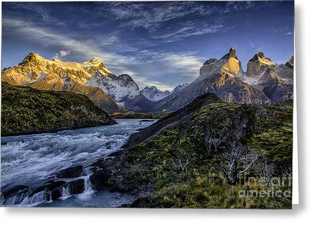 Geology Photographs Greeting Cards - Sunrise Over Cascades Greeting Card by Timothy Hacker