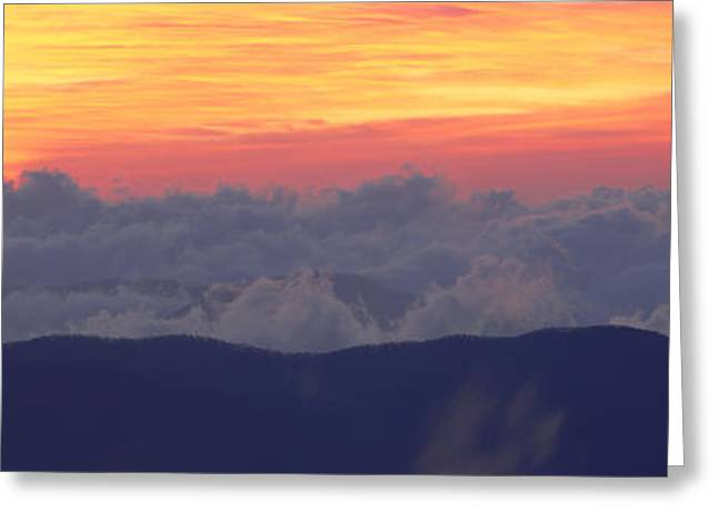 Clingmans Dome Greeting Cards - Sunrise Over Clingmans Dome, Great Greeting Card by Panoramic Images
