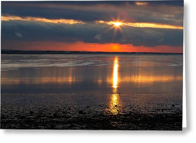 Duxbury Greeting Cards - Sunrise Over Duxbury Bay I Greeting Card by Steven David Roberts