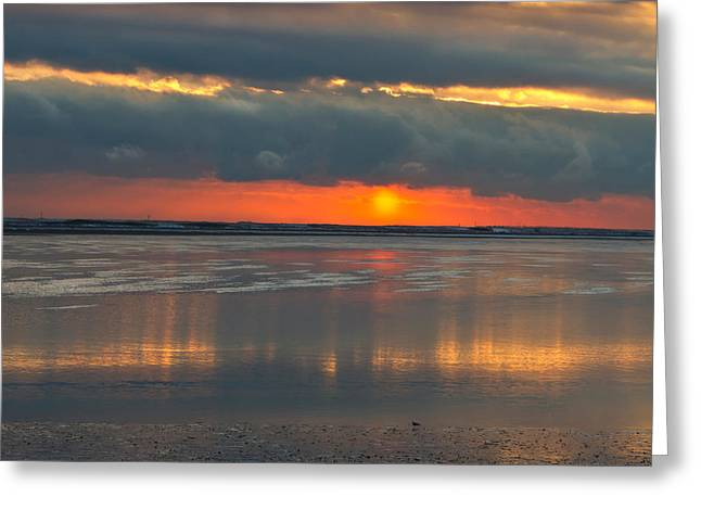 Duxbury Greeting Cards - Sunrise Over Duxbury Bay II Greeting Card by Steven David Roberts