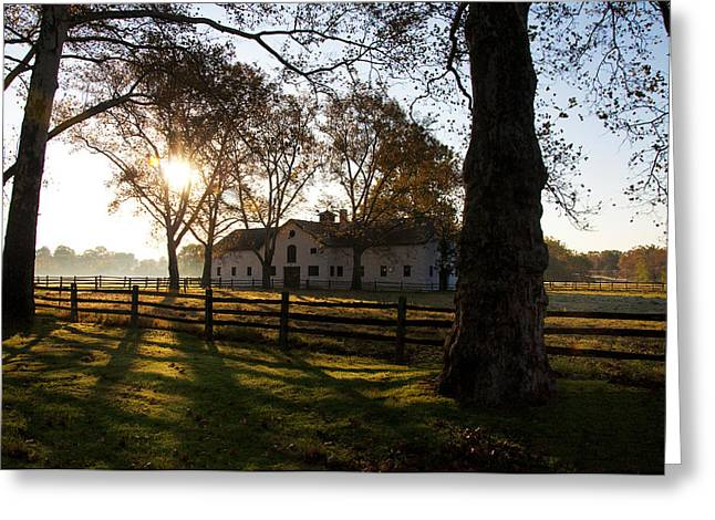 Erdenheim Farm Greeting Cards - Sunrise Over Widener Farm Greeting Card by Bill Cannon