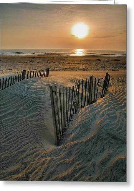 Prints Photographs Greeting Cards - Sunrise Over Hatteras Greeting Card by Steven Ainsworth