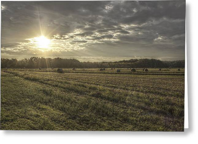 Conway Arkansas Greeting Cards - Sunrise Over Hayrolls Greeting Card by Jason Politte