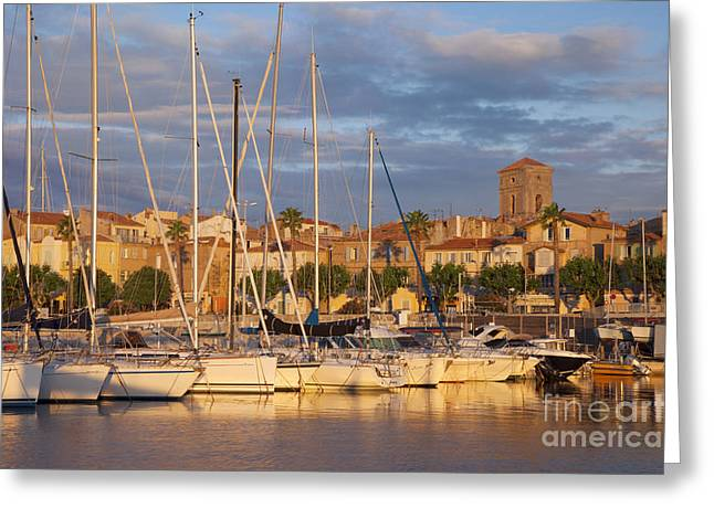 Sunrise over La Ciotat France Greeting Card by Brian Jannsen