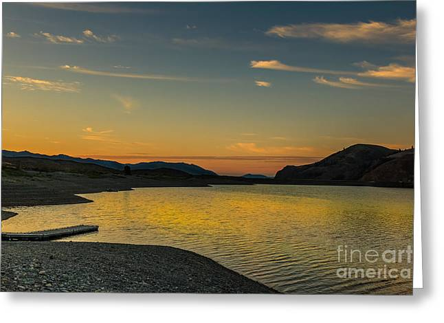 Salmon River Idaho Greeting Cards - Sunrise Over Mackay Reservoir Greeting Card by Robert Bales
