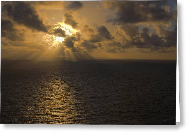 Brianharig Greeting Cards - Sunrise Over Molokai Hawaii Greeting Card by Brian Harig