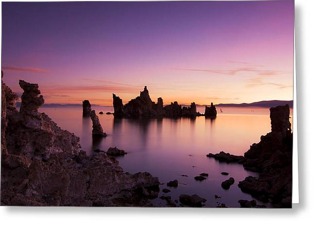 Outdoor Images Greeting Cards - Sunrise Over Mono Redux Greeting Card by Kurt Golgart