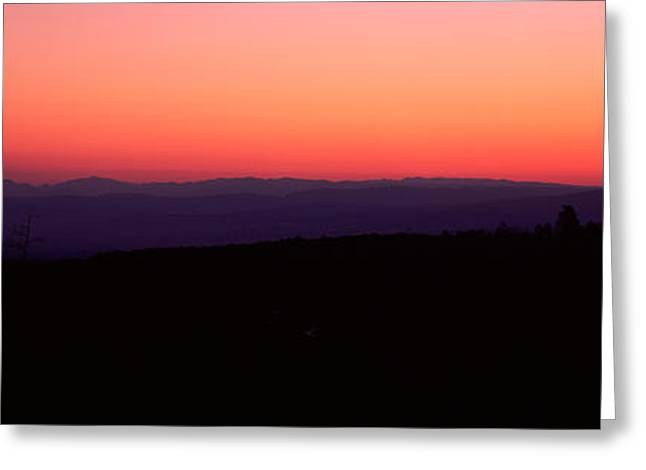 Telluride Greeting Cards - Sunrise Over Mountain, Western Slope Greeting Card by Panoramic Images