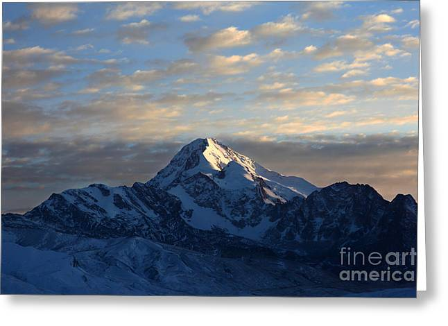 James Brunker Greeting Cards - Sunrise over Mt Huayna Potosi Greeting Card by James Brunker
