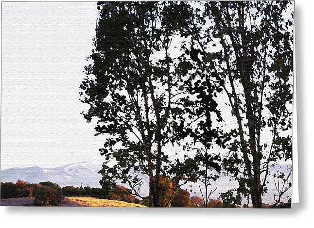 Sunrise Over Northern California Hills Greeting Card by Artist and Photographer Laura Wrede