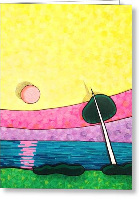 Exciting Mixed Media Greeting Cards - Sunrise over Old Tampa Bay Greeting Card by Jason Allen