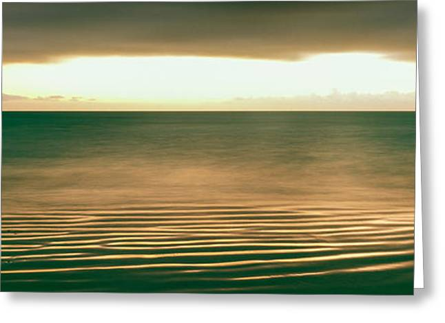 Sunrise Over Pacific Ocean, Cabo Pulmo Greeting Card by Panoramic Images