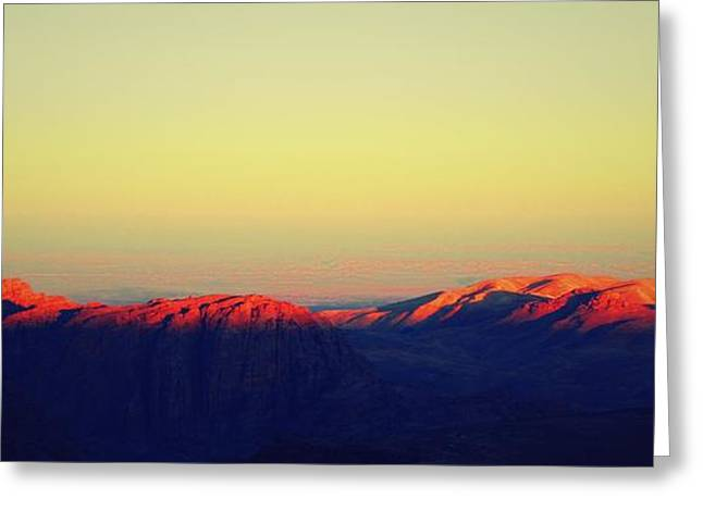 Sunrise Over Petra Greeting Card by Callan Percy
