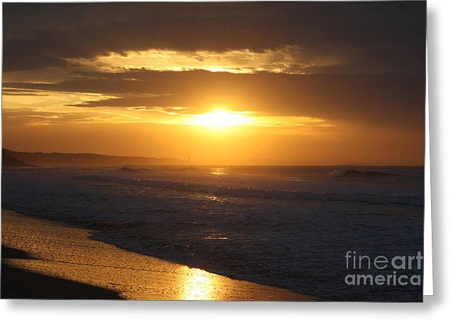Lindalees Greeting Cards - Sunrise over Point Lonsdale Greeting Card by Linda Lees