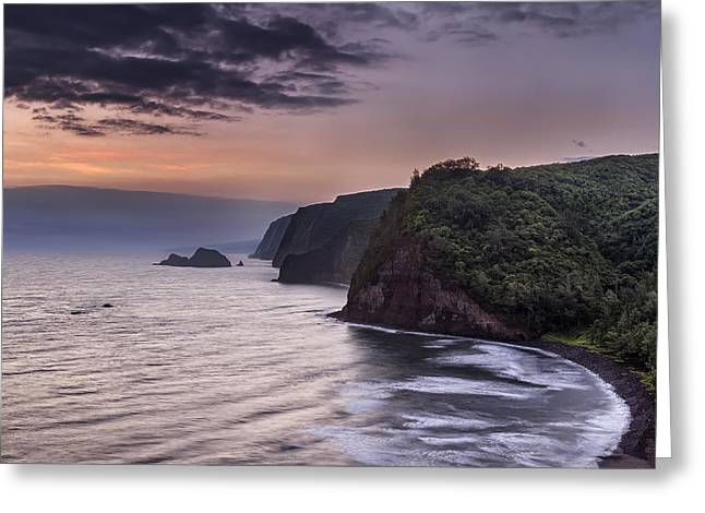 Sunrise Over Pololu Valley Greeting Card by Eduard Moldoveanu