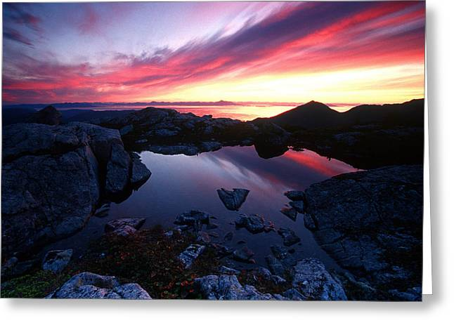 Peaceful Scenery Greeting Cards - Sunrise Over Pond Short Arm Peak Prince Greeting Card by Chip Porter