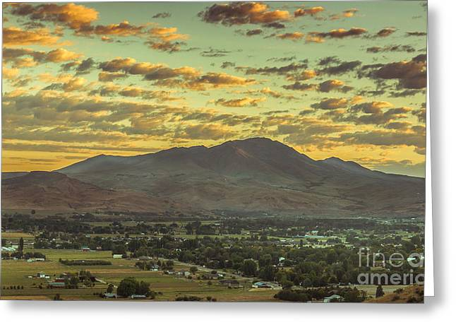 Haybales Greeting Cards - Sunrise Over Squaw Butte Greeting Card by Robert Bales