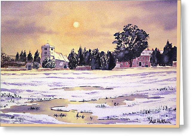 New England Village Paintings Greeting Cards - Sunrise Over St Botolphs Church Greeting Card by Bill Holkham