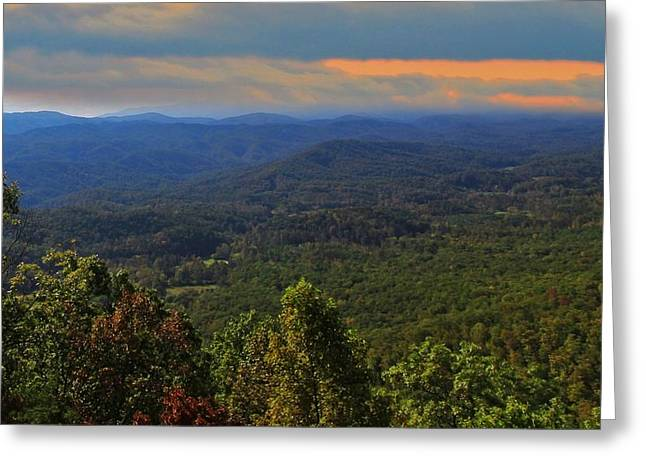 Gatlinburg Tennessee Greeting Cards - Sunrise Over The Appalachian Mountains Greeting Card by Dan Sproul