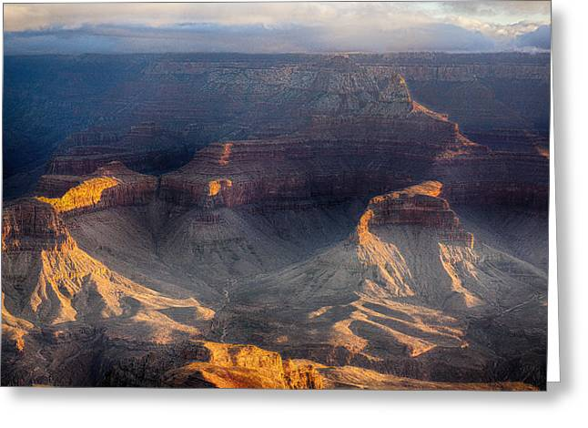 Greeting Cards - Sunrise over The Canyon Greeting Card by Lisa  Spencer
