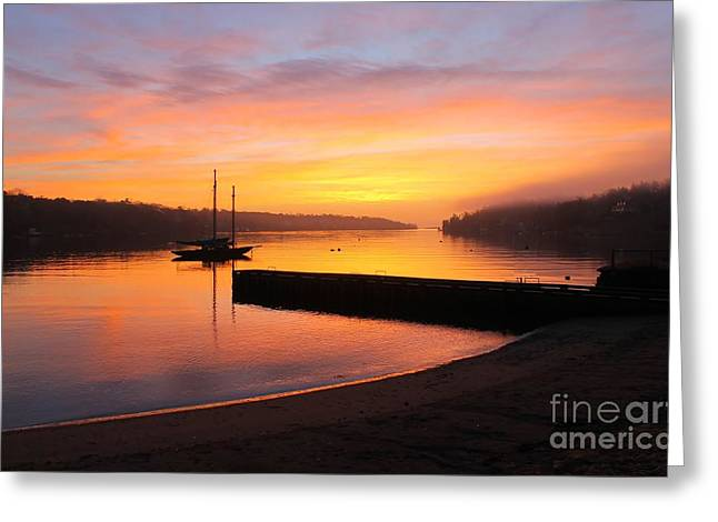 Arctic Rose Greeting Cards - Sunrise over the Dingle Greeting Card by Dave Lahn