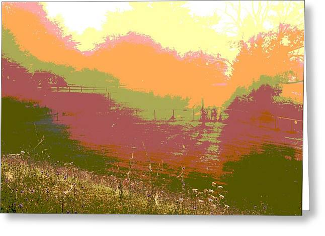 Hues Of Purple Greeting Cards - Sunrise Over The Field Greeting Card by Dan Sproul