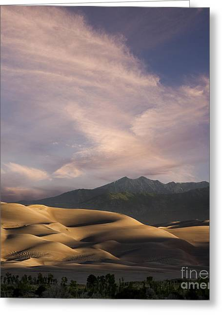 Sand Dunes National Park Greeting Cards - Sunrise over the Great Sand Dunes Greeting Card by Keith Kapple
