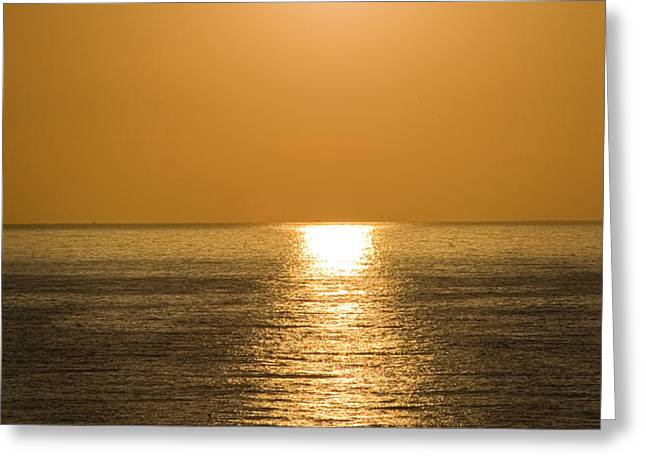 Sunrise Over The Mediterranean Greeting Card by Jim  Calarese