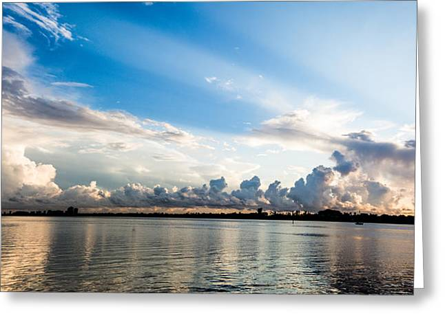 Ocean Shore Greeting Cards - Sunrise Over West Palm Beach Greeting Card by Molly Grabill