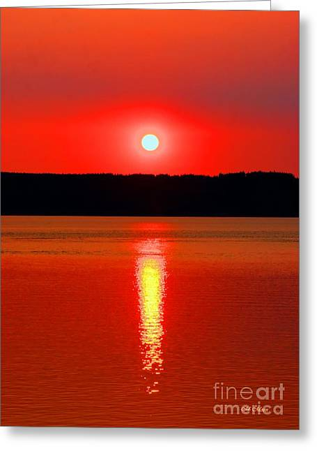 Tap On Photo Greeting Cards - Sunrise Over Whidbey Island Greeting Card by Tap  On Photo