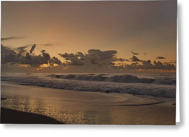 Surf City Greeting Cards - Sunrise Paradise Greeting Card by Betsy C  Knapp