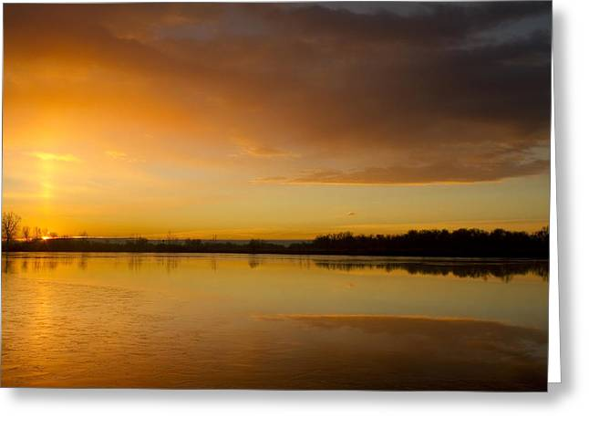 Sunset Prints Greeting Cards - Sunrise Pella Ponds Hygiene Colorado Greeting Card by James BO  Insogna