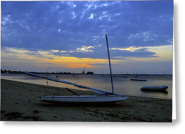 Ptown Greeting Cards - Sunrise Provincetown Greeting Card by Art K