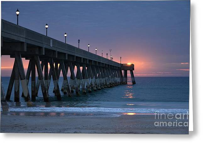 Peaceful Scene Greeting Cards - Sunrise Reflections Greeting Card by Bob Sample