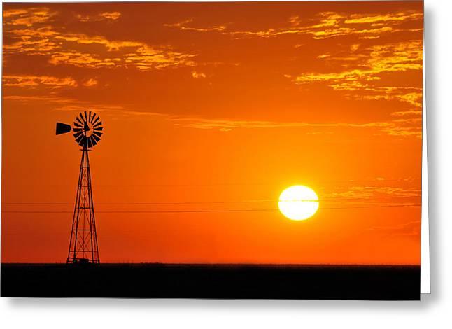 Sunrise Greeting Card by Paul Van Baardwijk