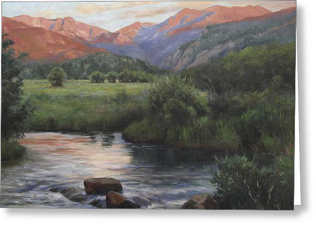 Rocky Mountains Greeting Cards - Sunrise Rocky Mountain National Park Greeting Card by Anna Bain