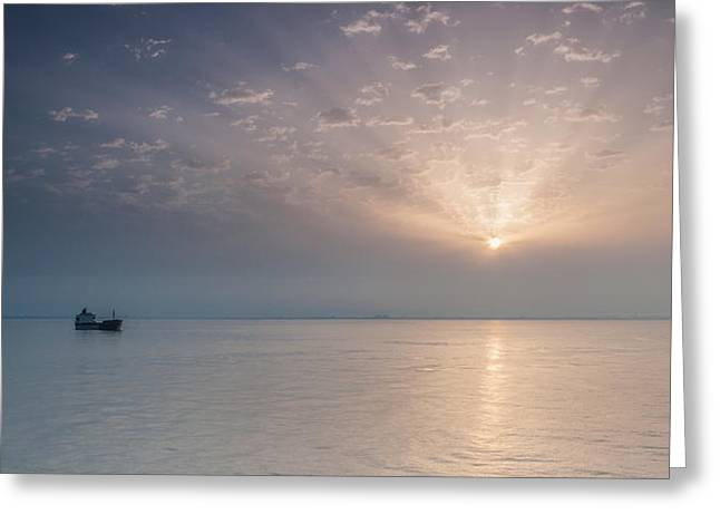 Beach Landscape Greeting Cards - Sunrise  Greeting Card by Sergey Simanovsky