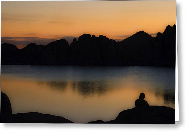 Sunrise Solitude Greeting Card by Dave Dilli
