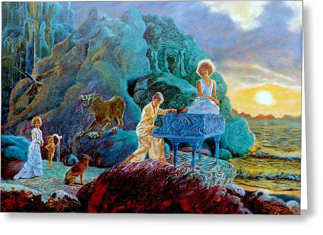 Sea Lions Greeting Cards - Sunrise Sonata Greeting Card by Henryk Gorecki