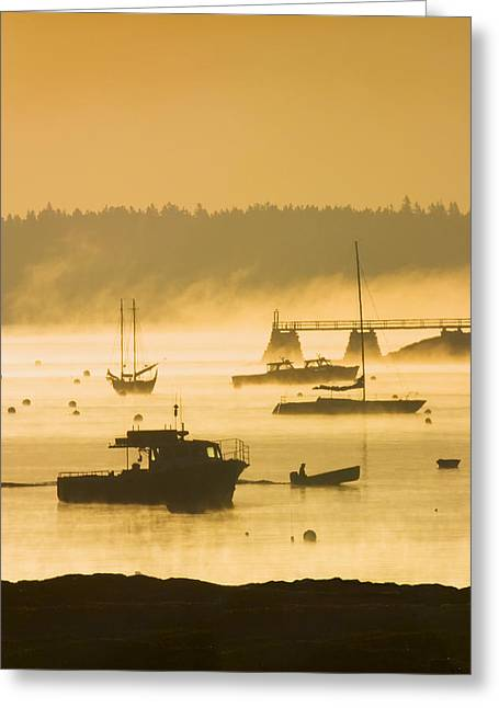 New England Morning Greeting Cards - Sunrise - Southwest Harbor - Mount desert Island - Maine Greeting Card by Keith Webber Jr