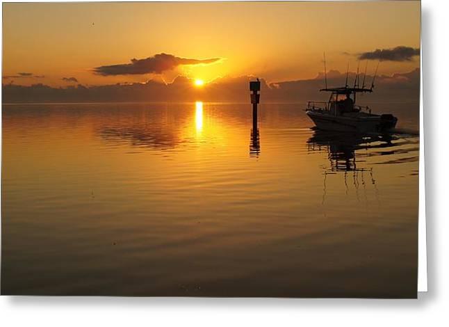 Sunrise Start Greeting Card by John Wall