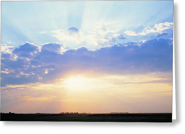 Radiates Greeting Cards - Sunrise Stelle Il Usa Greeting Card by Panoramic Images