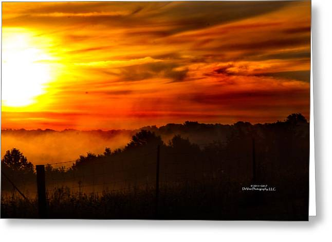 Sunrise Greeting Card by Stephani JeauxDeVine