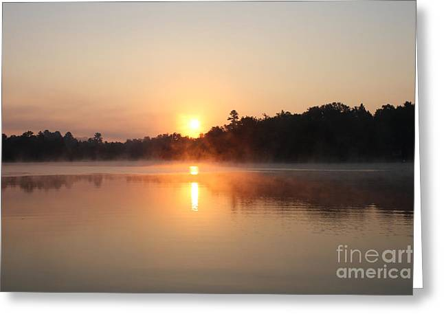 Points Pyrography Greeting Cards - Sunrise Greeting Card by Steve Knapp