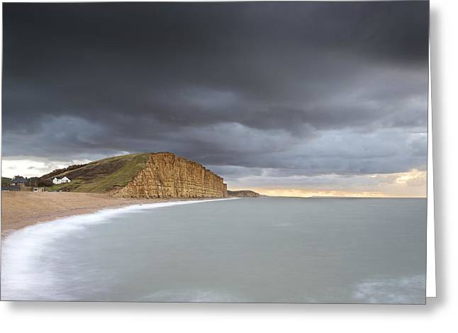 Burton Greeting Cards - Sunrise Storms at West Bay Greeting Card by Chris Frost